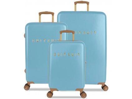 Sada cestovních kufrů SUITSUIT® TR-7105/3 - Fab Seventies Reef Water Blue  + LED svítilna