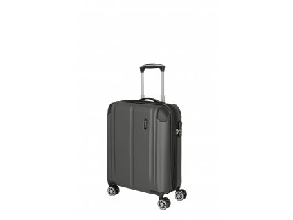 Travelite City S Expandable Anthracite  + LED svítilna