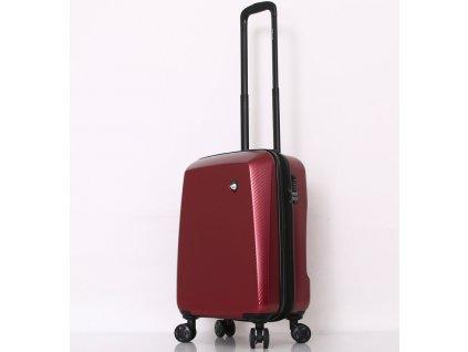 Cestovní kufr MIA TORO M1713/3-S - červená  + LED svítilna