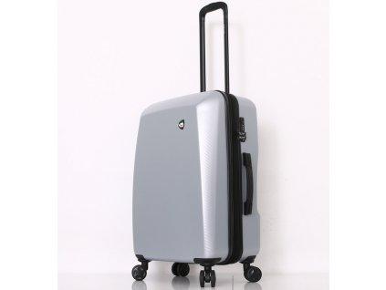 Cestovní kufr MIA TORO M1713/3-M - stříbrná  + LED svítilna
