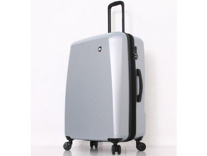 Cestovní kufr MIA TORO M1713/3-L - stříbrná  + LED svítilna