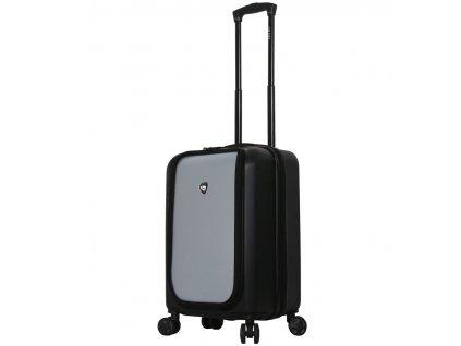 Cestovní kufr MIA TORO M1709/2-S - černá/stříbrná  + LED svítilna