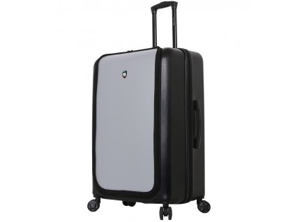 Cestovní kufr MIA TORO M1709/2-L - černá/stříbrná  + LED svítilna