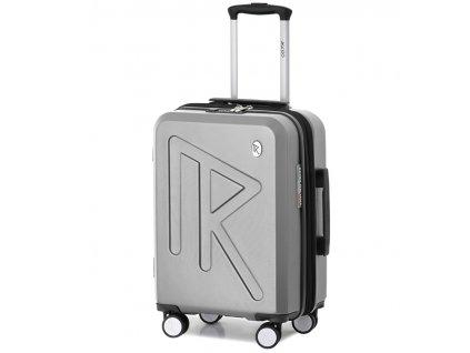 Kabinové zavazadlo Raido Numero Uno Silver Mood Line S  + LED svítilna