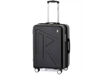 Cestovní kufr Raido Numero Uno Black Mood Line M  + LED svítilna