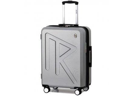 Cestovní kufr Raido Numero Uno Silver Mood Line M  + LED svítilna