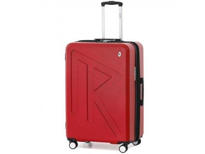 Cestovní kufr Raido Numero Uno Red Mood Line L  + LED svítilna