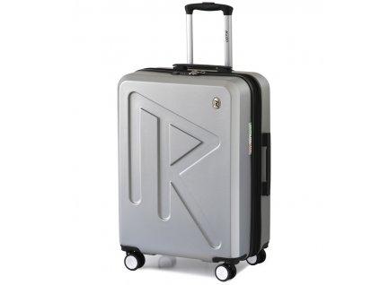 Cestovní kufr Raido Numero Uno Silver Mood Line L  + LED svítilna
