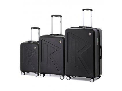 Sada cestovních kufrů Raido Numero Uno Black Mood Line  + LED svítilna