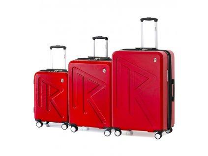 Sada cestovních kufrů Raido Numero Uno Red Mood Line
