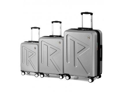 Sada cestovních kufrů Raido Numero Uno Silver Mood Line  + LED svítilna