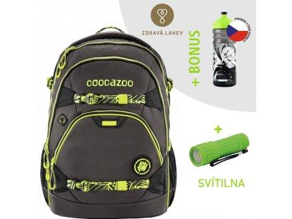 Školní batoh coocazoo ScaleRale bederním popruhem s Powerbankou TecCheck Neon Yellow