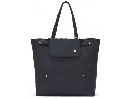 PACSAFE taška CITYSAFE CX PACKABLE HORIZONTAL TOTE black  + LED svítilna