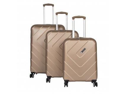 Travelite Kalisto S,M,L Champagne – sada 3 kufrů