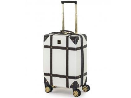 Kabinové zavazadlo ROCK TR-0193/3-S ABS - krémová  + LED svítilna