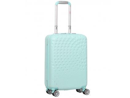 Kabinové zavazadlo AEROLITE T-565/3-S ABS - světle zelená  + LED svítilna