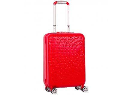 Kabinové zavazadlo AEROLITE T-565/3-S ABS - červená  + LED svítilna