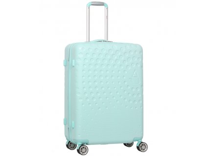 Cestovní kufr AEROLITE T-565/3-M ABS - světle zelená  + LED svítilna
