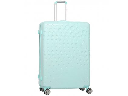 Cestovní kufr AEROLITE T-565/3-L ABS - světle zelená  + LED svítilna