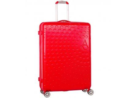 Cestovní kufr AEROLITE T-565/3-L ABS - červená  + LED svítilna