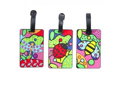 Jmenovky na zavazadlo MIA TORO 3ks MA-037 Pop Bugs