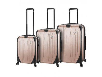 Sada cestovních kufrů MIA TORO M1525/3 - champagne  + LED svítilna