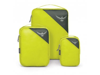 ul packing cube set front electric lime 1