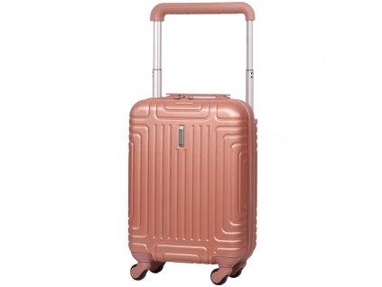 Kabinové zavazadlo AEROLITE T-2821/3-S ABS - růžová  + LED svítilna