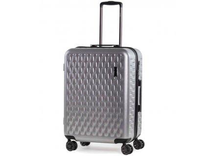 Cestovní kufr ROCK TR-0192/3-M ABS/PC - stříbrná  + LED svítilna