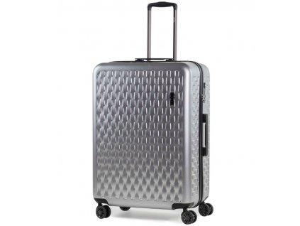 Cestovní kufr ROCK TR-0192/3-L ABS/PC - stříbrná  + LED svítilna