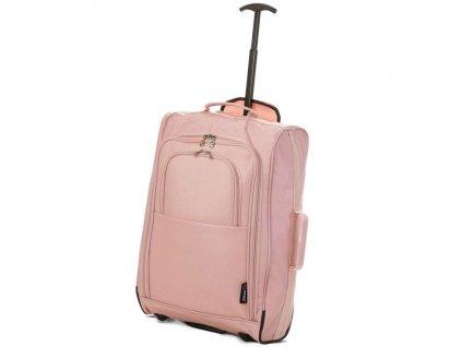 Kabinové zavazadlo CITIES T-830/1-55 - růžová