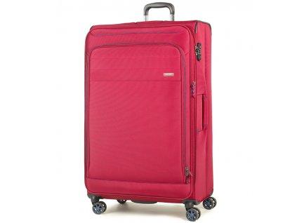 Cestovní kufr ROCK TR-0162/3-XL - červená  + LED svítilna