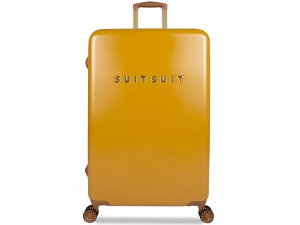 Cestovní kufr SUITSUIT® TR-7107/3-L - Fab Seventies Lemon Curry  + LED svítilna