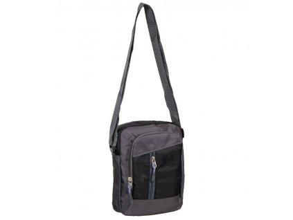 Taška přes rameno REAbags LL22 - šedá/černá