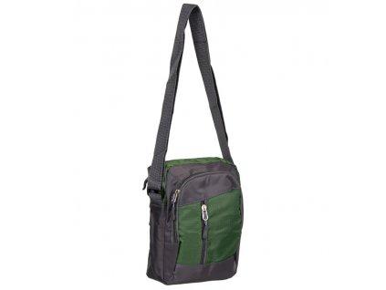 Taška přes rameno REAbags LL22 - šedá/zelená