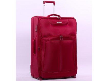 Cestovní kufr AEROLITE T-9985/2-M - vínová  + LED svítilna