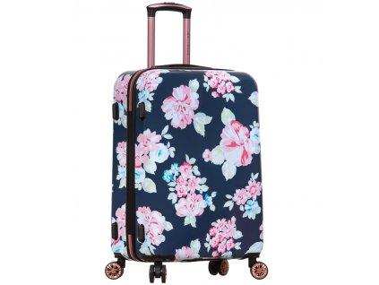 Cestovní kufr SIROCCO T-1251/3-L PC - Flower  + LED svítilna
