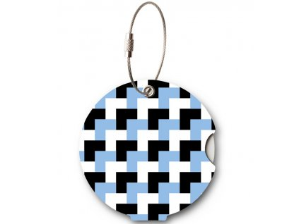 Jmenovka na kufr Addatag - Bricks blue