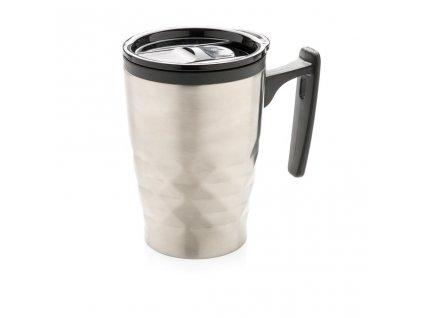Geometrický termohrnek s ouškem, XD Design, stříbrný