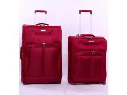 Sada cestovních kufrů AEROLITE T-9985/2 - vínová  + LED svítilna