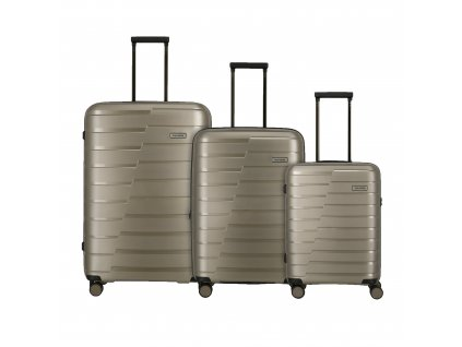 Travelite Air Base S,M,L Champagne metallic  + LED svítilna