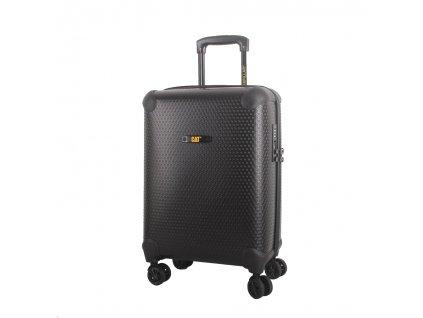 CAT cestovní kufr HEXAGON, 37 l, černý, materiál polypropylen, kabinové zavazadlo  + LED svítilna