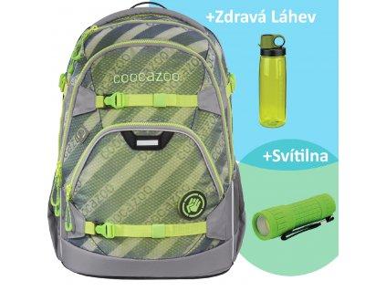 Školní batoh coocazoo ScaleRale, MeshFlash Neongreen, certifikát AGR