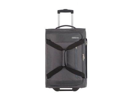 American Tourister HEAT WAVE  taška na kolečkách 55 cm 45L Charcoal Grey  + LED svítilna