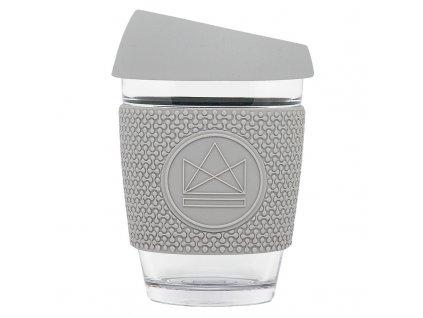 Neon Kactus Skleněný hrnek na kávu, M, 340 ml šedý