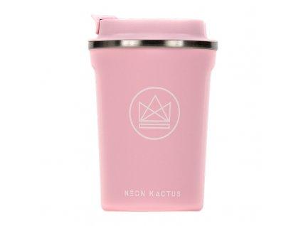 Neon Kactus Designový termohrnek, 380 ml růžový