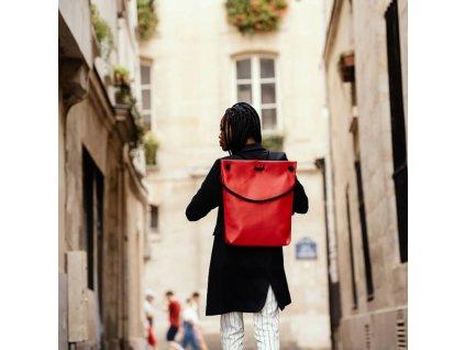 designov batoh classic velikost m indigo cerven (6)