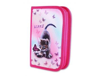 Školní penál 2-klopy Kitty (Varianta Neplněný penál)