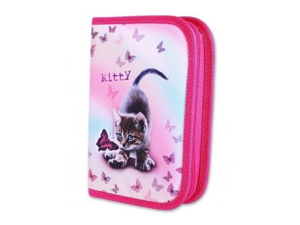Školní penál 1-klopa Kitty (Varianta Neplněný penál)