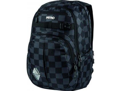 NITRO batoh HERO checker  + LED svítilna